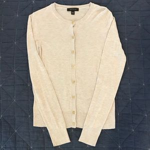 Ann Taylor Ann Cardigan, Natural Beige Heather